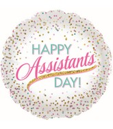"""17"""" Assistant Day Dots Foil Balloons"""