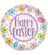 """17"""" Easter Flower & Egg Foil Balloons"""