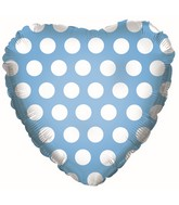 "18"" Powder Blue W/ White Polka Dots"