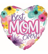 "17"" Best Mom Ever Foil Balloon"