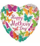 """17"""" Happy Mother's Day Butterflove You Parade Foil Balloons"""