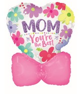 """11"""" Airfill Only Mother's Day Heart With Bow Foil Balloon"""