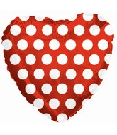 """9"""" Airfill Red with White Polka Dots"""