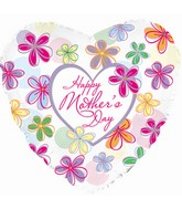 """9"""" Airfill Happy Mother's Day Flowers and Dots"""