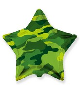 "18"" Star Shaped Military Camouflage Foil Balloon"