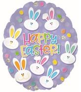 "20"" Easter Bunny Face Egg Foil Balloons"