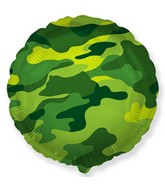 "18"" Round Circle Shaped Military Camouflage Foil Balloon"