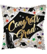 """17"""" Congrats Grad Prismatic Foil Balloon"""