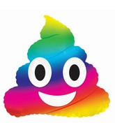 """9"""" Airfill Only Emoticon Rainbow Poop Balloon"""