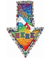 "29"" Party Here Arrow Balloon"