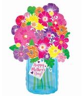 "22"" Happy Mother's Day Blue Jar Boka Foil Balloons"