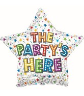 """17"""" The Party's Here Bright Bulbs Foil Balloon"""