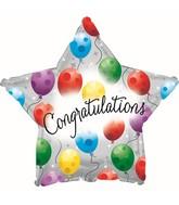 "9"" Airfill Congrats Twinkling Star Balloon"