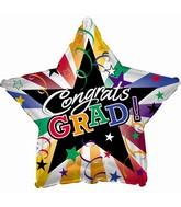"9"" Airfill Congrats Grad Stars And Streamers"