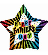 """9"""" Airfill Only Happy Father's Day Rainbow Foil Balloon"""