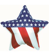 "31"" Patriotic Star Foil Balloon"