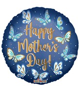 "18"" Happy Mother's Day Butterflies Matte Foil Balloon"