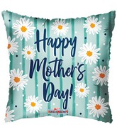 """18"""" Happy Mother's Day Daisies On Mint Matte Foil Balloon"""
