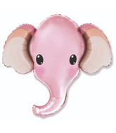 "39"" Elephant Head Pink Foil Balloon"