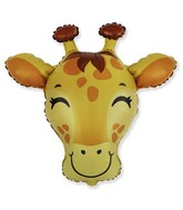 "31"" Giraffe Head Foil Balloon"