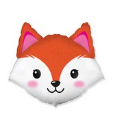 "25"" Fox Head Foil Balloon"