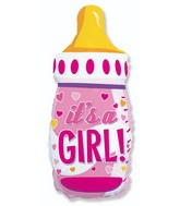 Bottle Girl Foil Balloon