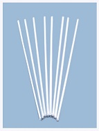 "24"" Balloon Straws White 100 count (Use with cup 47741)"