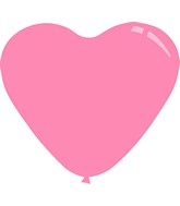 "11"" Standard Pink Decomex Heart Shaped Latex Balloons (100 Per Bag)"