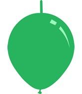 "11"" Standard Green Decomex Linking Latex Balloons (100 Per Bag)"