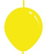 "11"" Standard Yellow Decomex Linking Latex Balloons (100 Per Bag)"