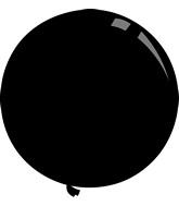 """36"""" Standard Black Decomex Latex Balloons (5 Per Bag)"""