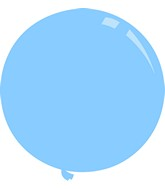 """36"""" Deco Light Blue Decomex Latex Balloons (5 Per Bag)"""