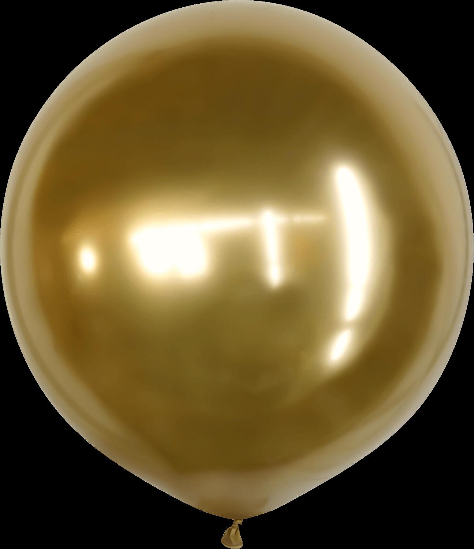 "36"" Kalisan Latex Balloons Mirror Gold (2 Per Bag)"