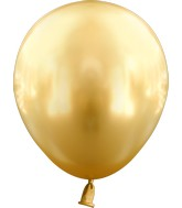 "5"" Kalisan Latex Balloons Mirror Gold (50 Per Bag)"