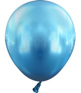 "5"" Kalisan Latex Balloons Mirror Blue (50 Per Bag)"