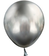 "5"" Kalisan Latex Balloons Mirror Space Grey (50 Per Bag)"