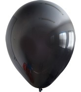 "12"" Kalisan Latex Balloons Standard Black (50 Per Bag)"