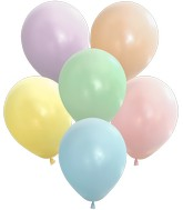 "5"" Kalisan Latex Balloons Pastel Matte Macaroon Assortment (50 Per Bag)"
