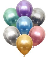 "12"" Kalisan Latex Balloons Mirror Assorted (50 Per Bag)"