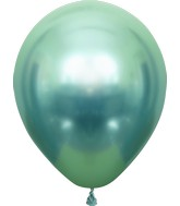 "12"" Kalisan Latex Balloons Mirror Green (50 Per Bag)"