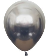 "12"" Kalisan Latex Balloons Mirror Space Grey (50 Per Bag)"