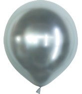 "18"" Kalisan Latex Balloons Mirror Silver (25 Per Bag)"