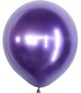 "18"" Kalisan Latex Balloons Mirror Violet (25 Per Bag)"