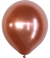 "18"" Kalisan Latex Balloons Mirror Rose Gold (25 Per Bag)"