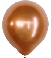 "18"" Kalisan Latex Balloons Mirror Copper (25 Per Bag)"