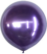 "24"" Kalisan Latex Balloons Mirror Violet (5 Per Bag)"