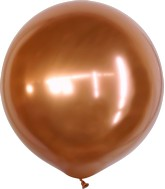 "24"" Kalisan Latex Balloons Mirror Copper (5 Per Bag)"