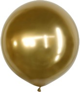 "36"" Kalisan Latex Balloons Mirror Gold (2 Per Bag)"