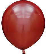 "18"" Kalisan Latex Balloons Mirror Red (25 Per Bag)"