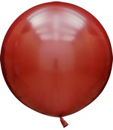 "24"" Kalisan Latex Balloons Mirror Red (5 Per Bag)"